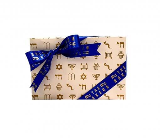Caixa de Bombom Trufado 6un com Simbolos de Rosh Hashaná -